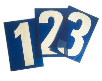 """Large 20"""" Vintage Plexiglass Gas Station Sign Number, Back-Lit Sign Number, Industrial Number, Man Cave Decor"""