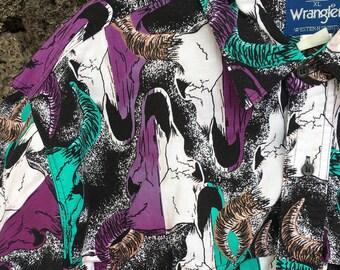 1980's Wrangler Western Steer Scull shirt