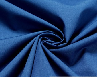 fabric cotton polyester plain sky blue azure blended fabric easy - care