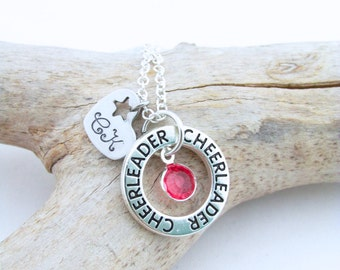 Personalized Cheerleading Gifts, Cheer Necklace, Cheerleader Necklace