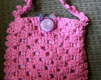 Crocheted Granny Square Purse #145