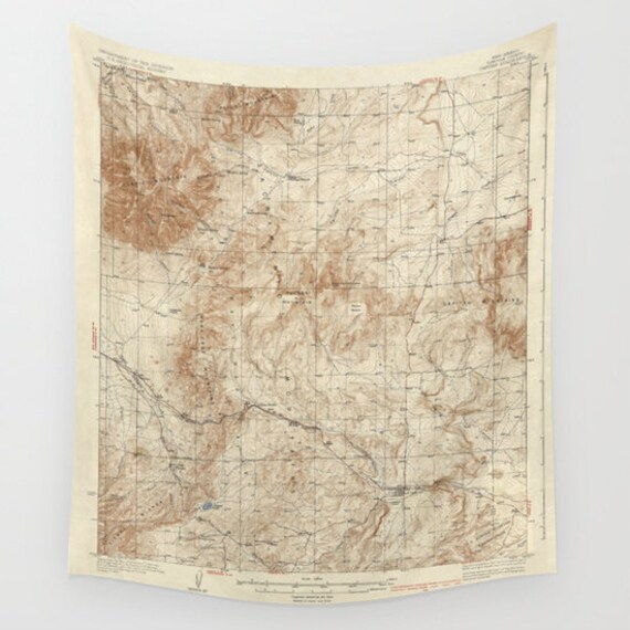 Antique New Mexico Map Wall Tapestry, Vintage Map Large Size Wall Art, Geography Decor, Office Decor, Beach Hut Decor, Vintage Map, Dorm Art