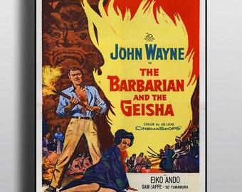 John Wayne, The Barbarian and the Geisha - Vintage Classic Poster Print