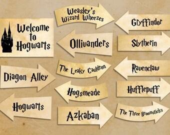 Harry Potter party printables Harry Potter party decorations Instant download party décor harry potter clipart harry potter clip art