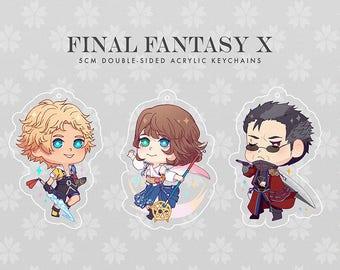Final Fantasy X: 5cm Clear Acrylic Keychains