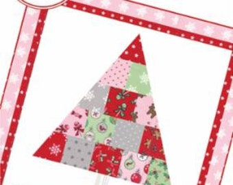 SALE!! Oh Christmas Tree Mini Quilt or Pillow by She Quilts A Lot for Moda-SQA 16126