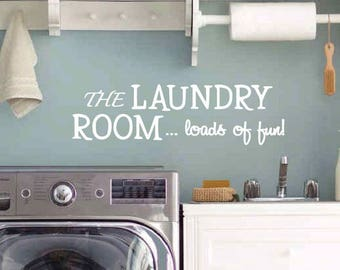 Laundry Room Wall Decal | Laundry Room Decor | Laundry Room Sign | Laundry Sign | Laundry Room Decal |  Laundry Decal | Laundry Room Art