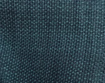 Teal Woven Solid - Upholstery Fabric By The Yard  - Fast Shipping