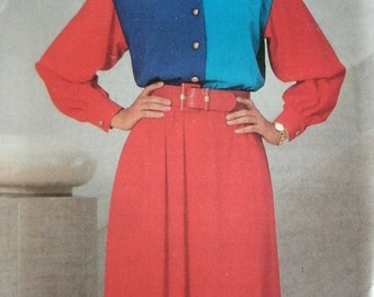 Misses Misses Petite Dress Size 12-14-16 See & Sew by Butterick Pattern 3607 Dated 1994 UNCUT Pattern Rated EASY to Sew