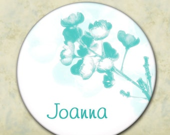 Bridesmaid Gift, Personalized Pocket Mirror, Shower Favor, Wedding Favor