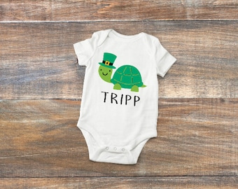 St. Patrick's Day Onesie; St. Patrick's Day Baby; Turtle Onesie; Boys St Patricks Day; St. Patrick's Day Outfit; Turtle