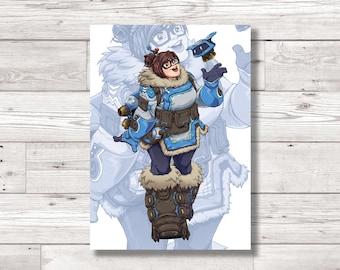 Overwatch 'Mei' Character Fan Art Print, Digital Art Print, Original Art Print, Digital Print