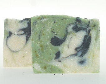 Rosemary & Mint Exfoliating Natural Handcrafted Hand Soap