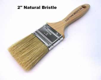 Natural Bristle Paint Brushes, 3 Sizes