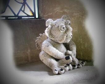 PERCY Pendragon (Gargoyle) toy knitting Pattern by Georgina Manvell