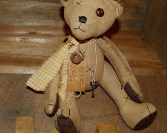 My Primitive ATTIC FIND BEAR Instant Download pattern