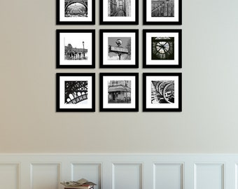Paris Photography, Paris France in Black and White Print Set, Paris Decor, Black and White Photography, Gallery Paris Wall Art, Paris Print