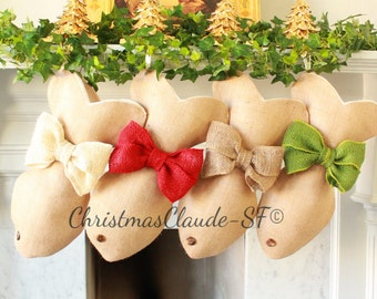 Ready to ship Cat Stocking Personalized Christmas Stocking Monogrammed Stockings Family Stockings Burlap Stockings Pet Pamperer