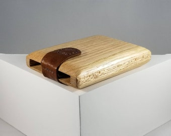 Wooden Wallet / Business Card Holder (Oak and Mahogany)