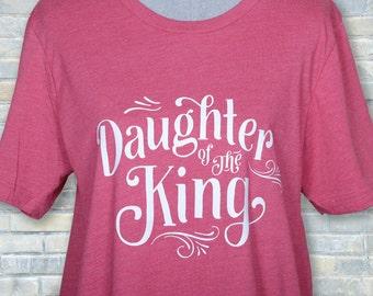 daughter king shirt, cute Christian tee, cute faith tshirt, Christian shirts, faith shirt, Christian clothing, Christian tee