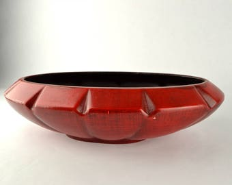 Sale! Vintage Haeger Red Planter Bowl Was 25, now 15