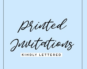 Printed Invitations-Wedding, Bridal Shower etc.