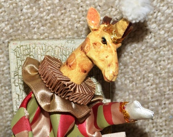 """GIRAFFE in Music Box, he moves to """" Nocturne by Bach """"Designed by the Imaginative, Reknowned  WAYNE KLESKI  Handmade by Talented Craftsmen"""