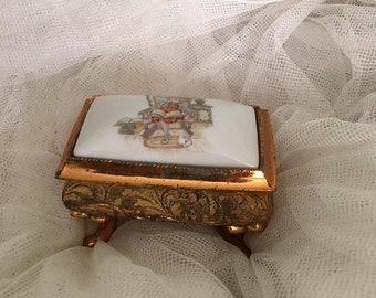 Vintage Holly Hobbie porcelain Jewelry box