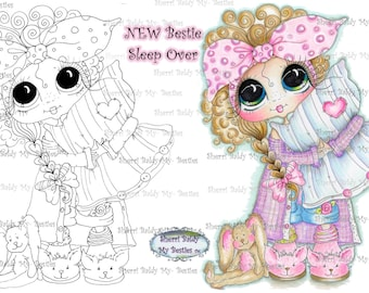 INSTANT DOWNLOAD Digital Digi Stamps Big Eye Big Head Dolls Digi  My - Besties  img231 By Sherri Baldy