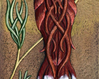 Gaelic Songbird - Cast Paper - Fantasy art -  Celtic Knot - Irish art - wall decor