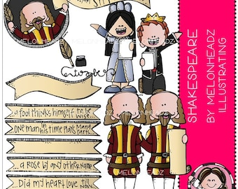 Shakespeare clip art - COMBO PACK
