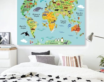World map decal countries of the world map kids country world map decal countries of the world map kids country world map poster peel gumiabroncs Choice Image