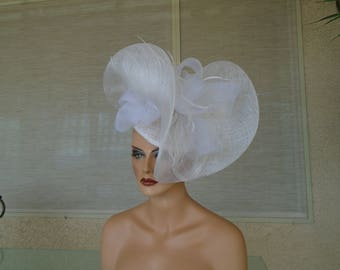 big white fascinator
