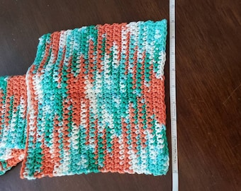 Crochet washcloths.  Great for cleaning and washing.  Very absorbent.