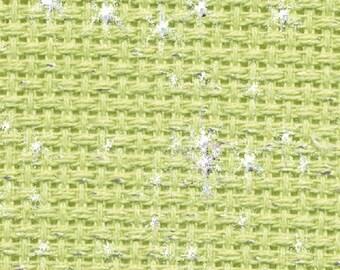 Aida 14 count Green Iridescent  Aida from DMC 55 x 50 cms-cross stitch fabric
