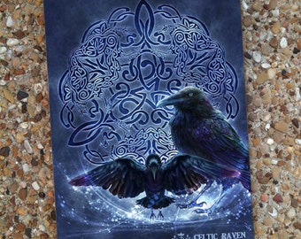 Celtic Raven Blank Book Journal