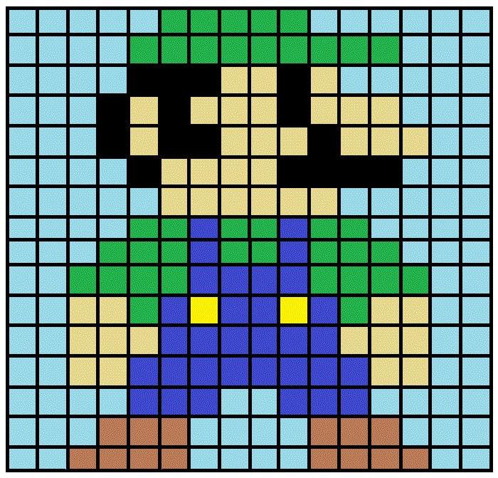 Mario And Luigi Knitting Patterns Super Mario Cross Stitch And