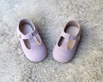 Lilac Baby Girl Shoes, Purple Baby Girl Shoes, Baby Shoes, Toddler Shoes, Gift For Girls, T Strap Mary Jane, Leather Baby Shoes, Baby Gift