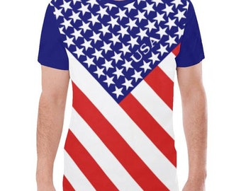 America (USA) Men's Flag Tee/Small Town Usa/1776 Shirt/Merica Shirt/Patriot Shirt/USA Logo/Veterans Shirt/USA Pride/July 4th Shirt phbd9o