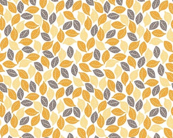 Sweet Prairie Leaves Yellow - C6542-Yellow by Sedef Imer of Down Grapevine Lane for Riley Blake Designs