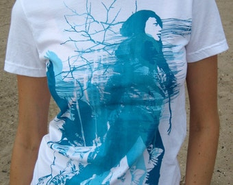 Electric Blue graphic tee