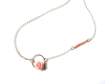 """Necklace """"Blossoming Rose"""" Silver 925"""