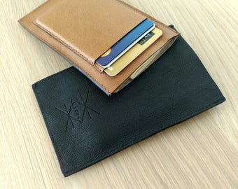 Mens Leather Card Holder. Mens Leather Card Case. Mens Leather Card Wallet. Mens Leather Wallet. Brown Card Case. Brown Card Holder