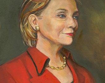 Portrait of Hillary Clinton, Fine Art Prnt
