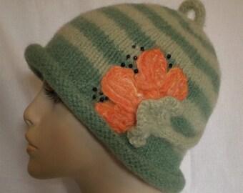 Tangerine Fling Wool Hat