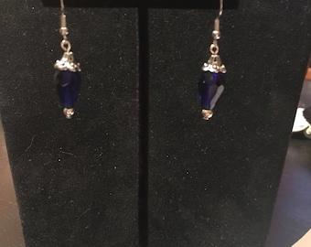 Dark blue earring