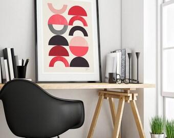 Mid-century modern art, vintage style print, abstract artwork - Playground I wall art print