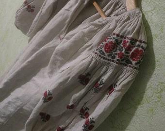 Embroidered dress Ukrainian Embroidery Eco dress Hemp dress Traditional costume Organic clothing Maxi dress Bohemian dress Womens gift