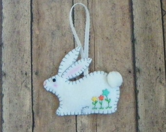 Felt Spring Bunny Rabbit Ornament, Easter Decoration, Bunny Rabbit Ornament, Easter Bunny Ornament