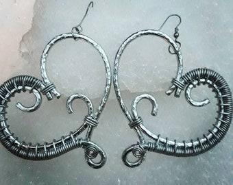 Handmade Heart Earrings #ArtisanofLove